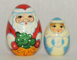 Яйцо 2 пр. Дед Мороз роспись